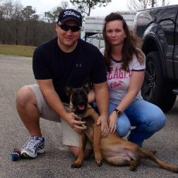 PSD Kennels malinois puppy athena with her new owners